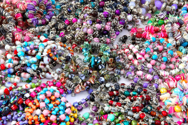 Colorful background with Beads Bangles