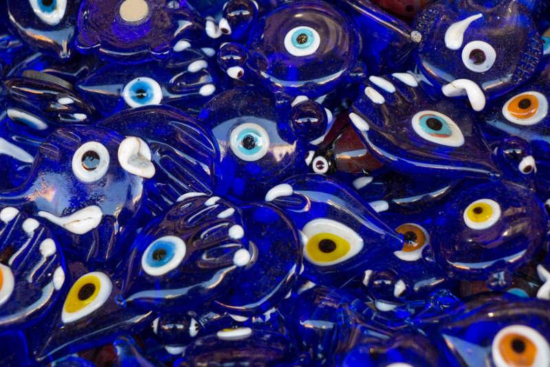 Set of evil eye bead as Amulet souvenir  from Turkey